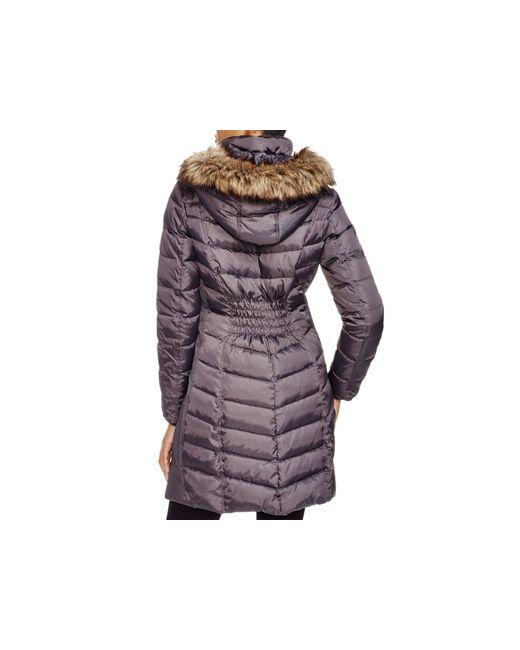 MICHAEL Michael Kors | Purple Coat - Ruched | Lyst