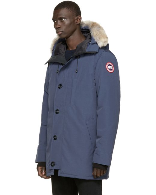 Canada Goose down sale fake - Canada goose Navy Down & Fur Spirit Chateau Parka in Blue for Men ...