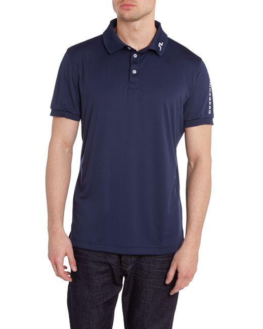 J.Lindeberg | Blue Tour Tech Tx Polo Shirt for Men | Lyst
