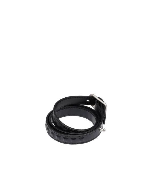 Balenciaga | Black Grid Bracelet Triple Tour for Men | Lyst