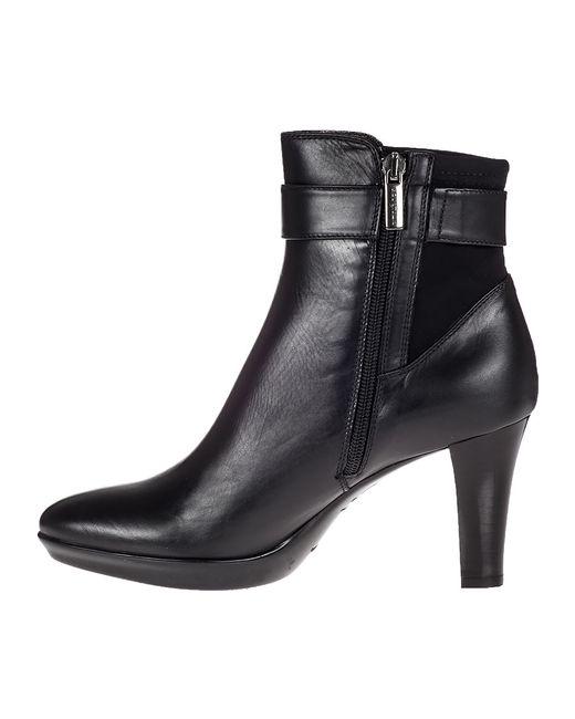 Aquatalia Riyan Ankle Boot Black Leather In Black Lyst
