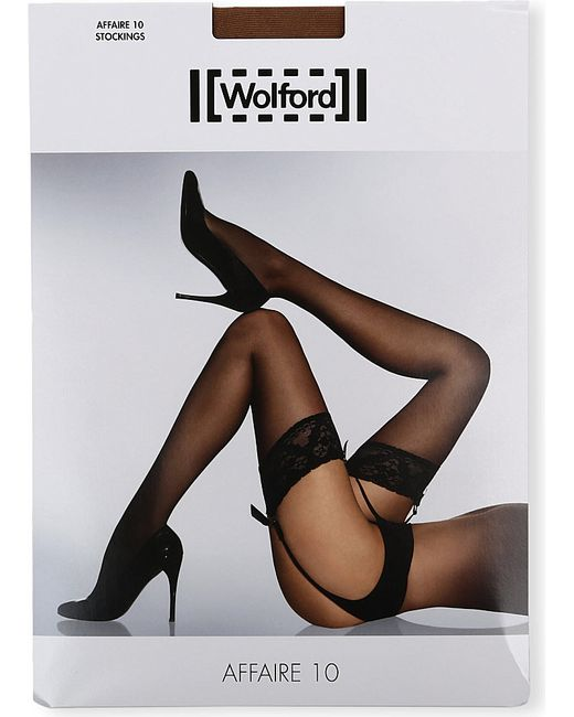 Wolford | Brown Affaire 10 Stockings | Lyst