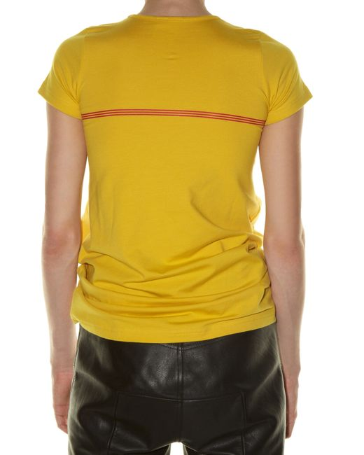vetements printed cotton t shirt in yellow save 30 lyst. Black Bedroom Furniture Sets. Home Design Ideas