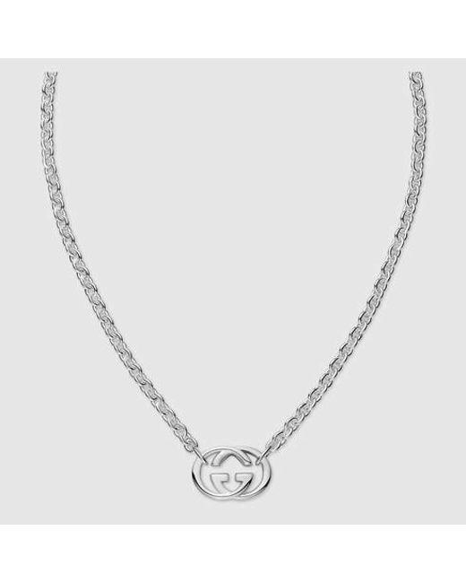 Gucci | Metallic Necklace With Interlocking G | Lyst