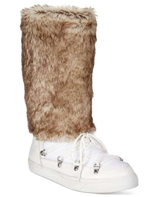 INC International Concepts | Brown Soffy Faux Fur Cold Weather Boots, Only At Macy's | Lyst