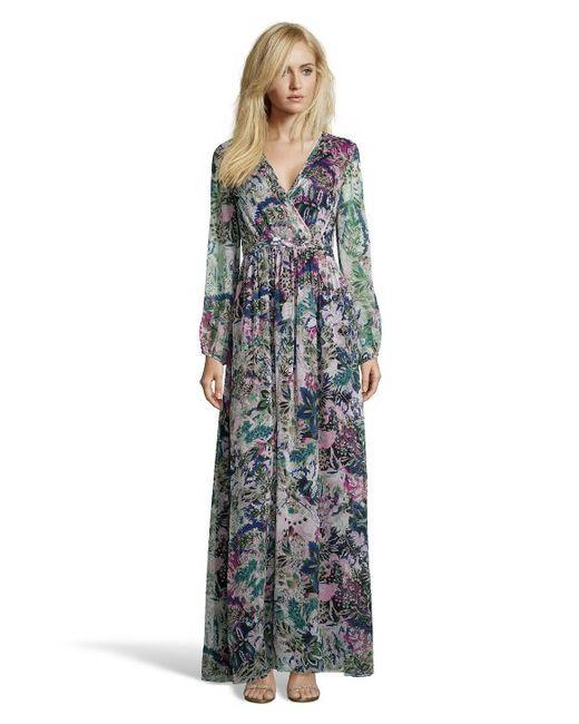 Diane von Furstenberg | Natural Celia Long Silk Dress | Lyst