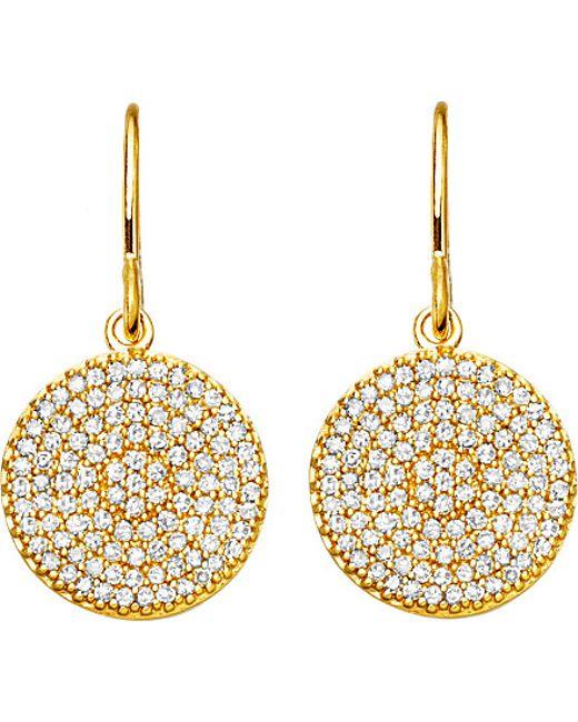 Astley Clarke | Metallic Yellow Gold Icon 14ct Gold Earrings | Lyst
