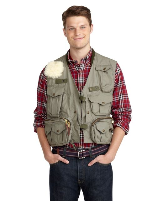 Brooks brothers filson fly fishing vest in green for men for Fly fishing catalog