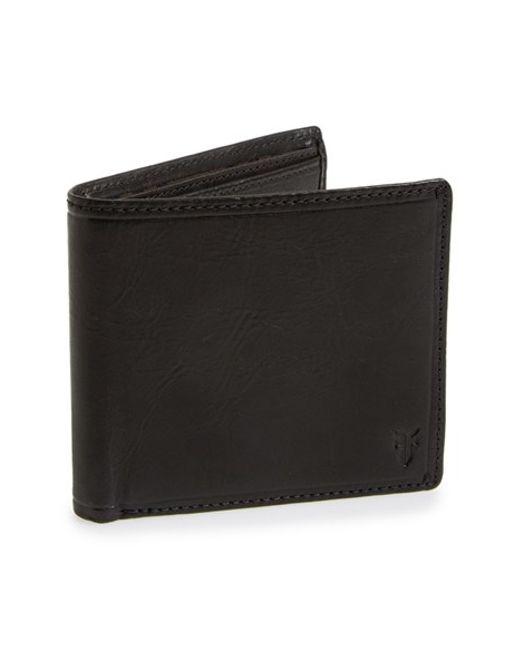 Frye | Black 'logan' Leather Billfold Wallet for Men | Lyst