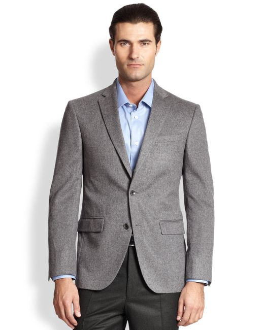 Saks Fifth Avenue | Gray Cashmere Blazer for Men | Lyst