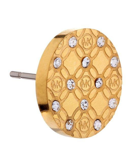 Michael Kors   Metallic Heritage Monogram Crystal Set Earrings   Lyst