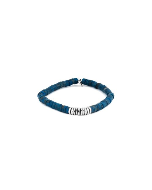 Tateossian | Multicolor Lapis Rhodium Disc Bead Bracelet for Men | Lyst