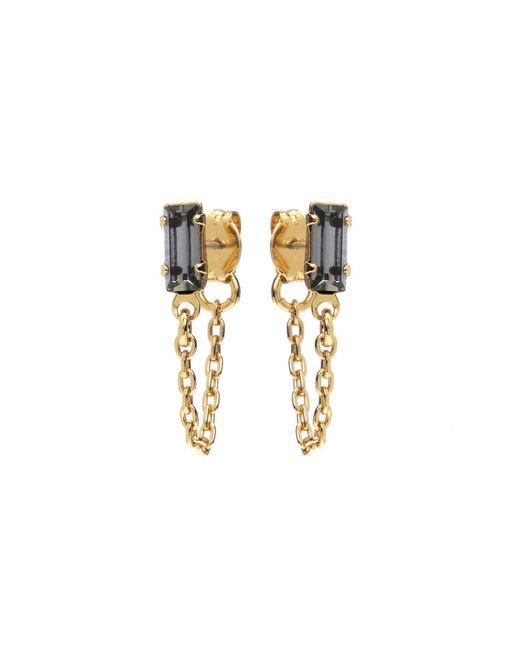 Bing Bang | Yellow Baguette Continuous Earrings | Lyst