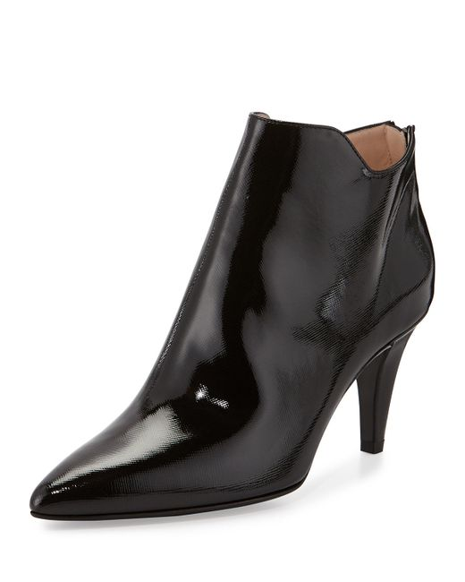 aquatalia sala patent leather ankle boots in black save