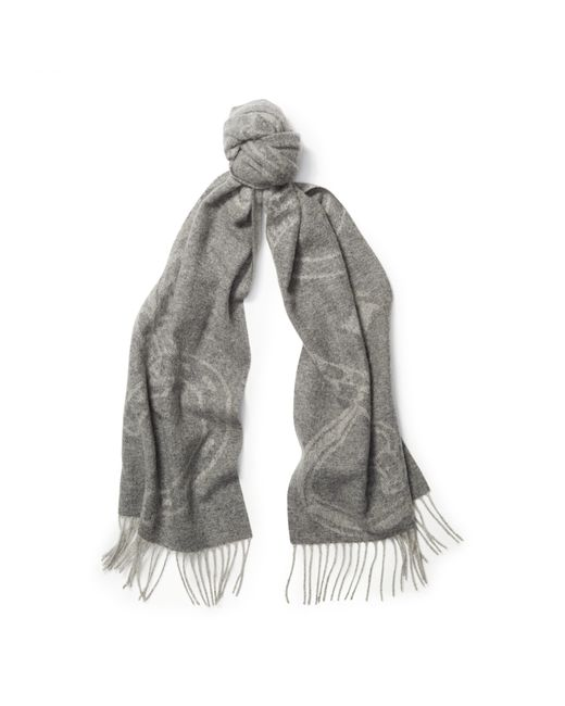 Pink Pony | Gray Bridle Wool Scarf | Lyst
