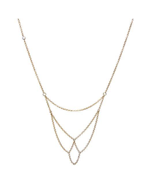 Dutch Basics | Metallic Boog Fine Chain Necklace Rose Gold | Lyst