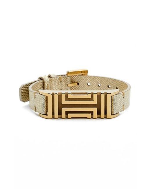 Tory Burch | For Fitbit Metallic Leather Bracelet | Lyst