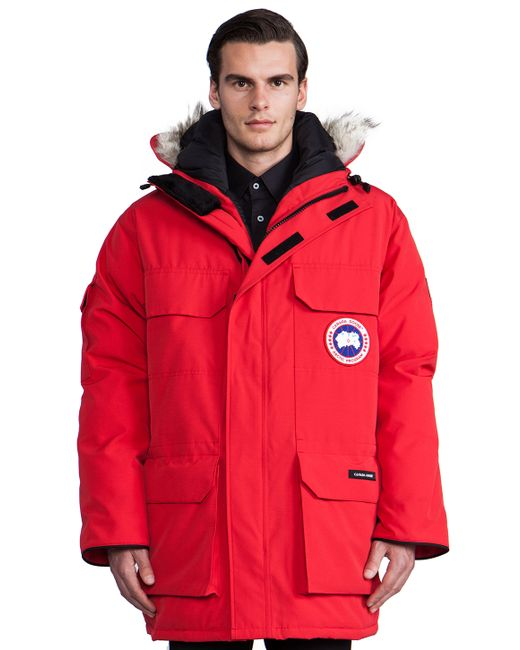 Canada Goose montebello parka outlet store - Canada goose Expedition Parka With Coyote Fur Trim in Red for Men ...