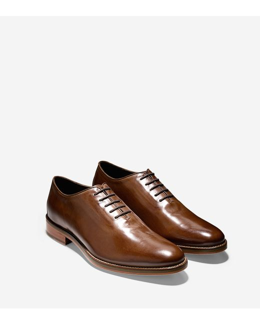 Cole haan Preston Wholecut Oxford in Brown for Men (Dark ...