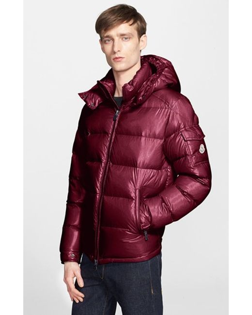 Moncler | Purple 'Maya' Lacquered Down Jacket for Men | Lyst