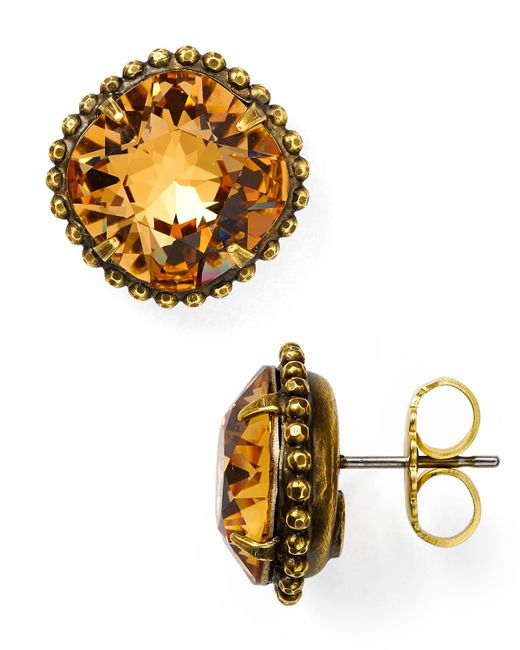 Sorrelli | Yellow Stud Earrings | Lyst