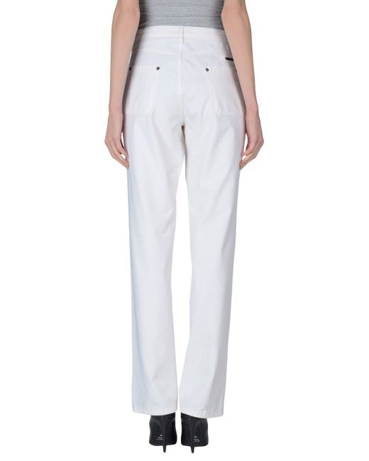Burberry   White Casual Trouser   Lyst