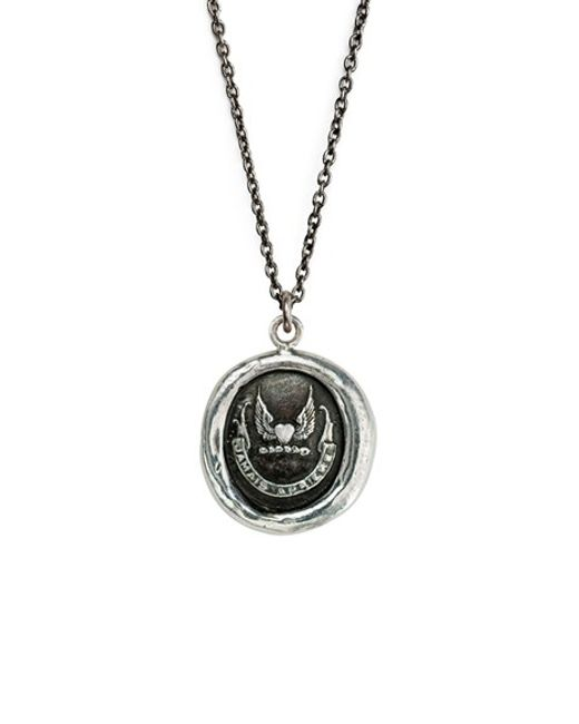 Pyrrha | Metallic Never Look Back Talisman Necklace | Lyst