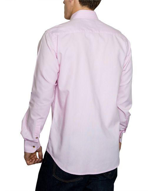 Raging Bull | Pink Plain Long Sleeve Button Down Shirt for Men | Lyst