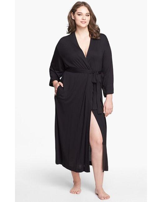 Natori | Black 'shangri-la' Robe | Lyst