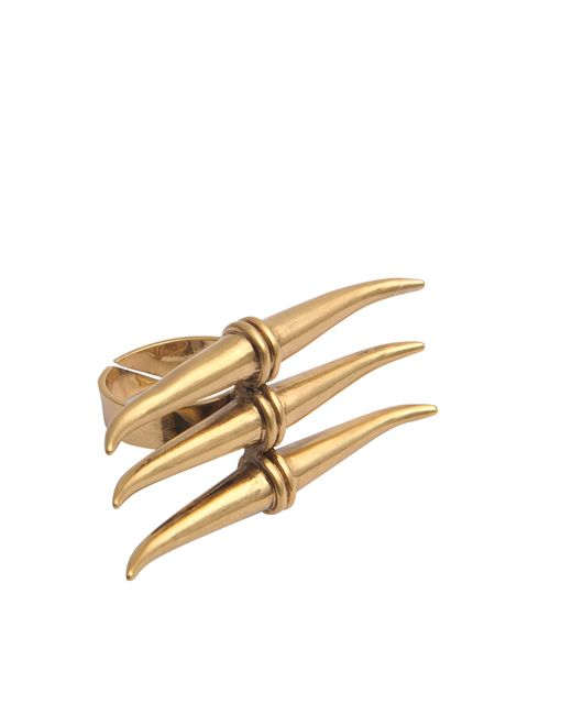 Tory Burch | Metallic Metal Triple-horn Ring | Lyst