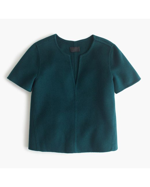 J.Crew | Green Collection Double-faced Cashmere Top | Lyst