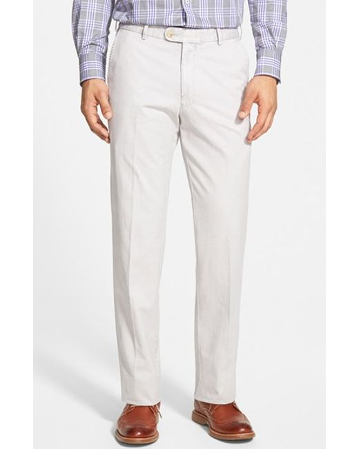 Peter Millar | Gray 'raleigh' Washed Twill Pants for Men | Lyst