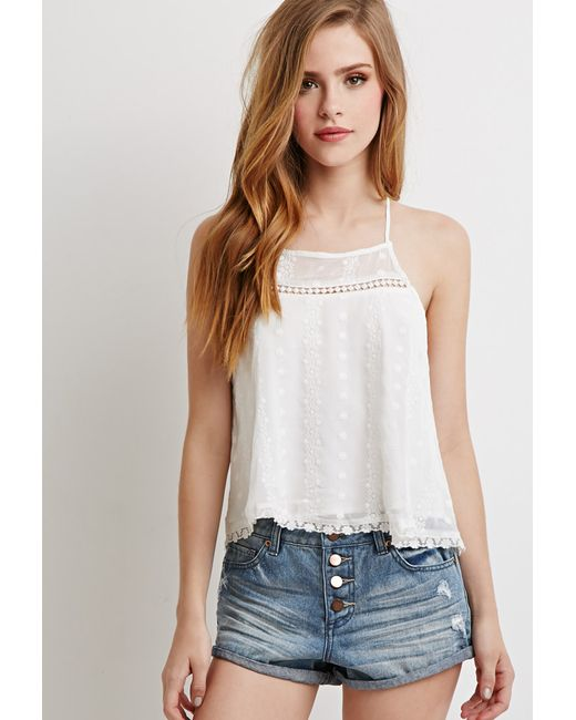 Forever 21   Blue Button-fly Denim Shorts   Lyst