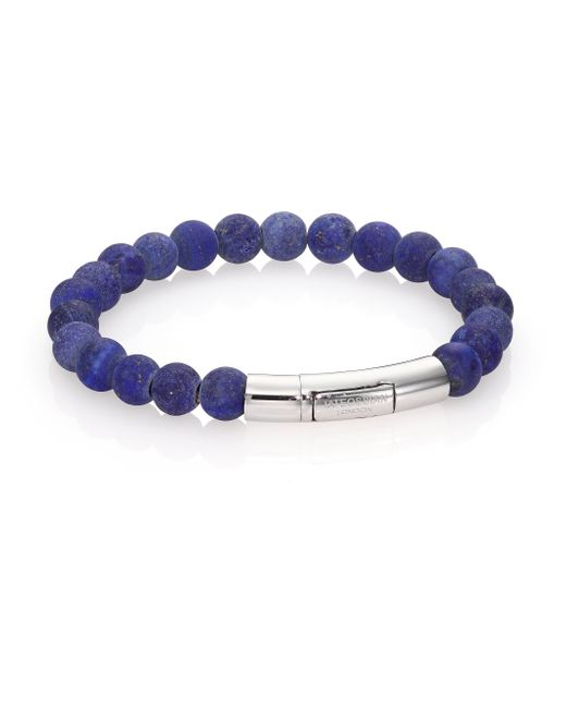 Tateossian | Blue Scoubidou Bracelet for Men | Lyst