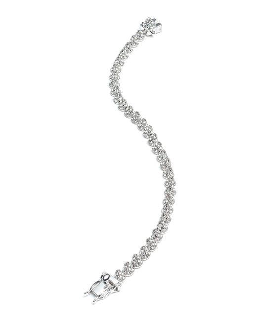 Eddie Borgo   Metallic Rhodium Plated Pave Crystal Mini Cone Bracelet   Lyst
