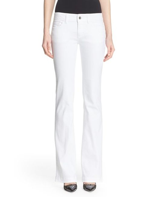 dolce gabbana bootcut stretch jeans in white optic. Black Bedroom Furniture Sets. Home Design Ideas