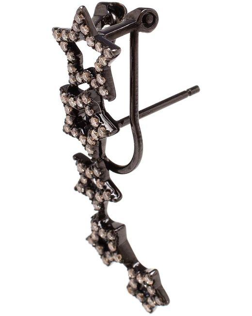 Rosa De La Cruz | Black Diamond Star Earrings | Lyst