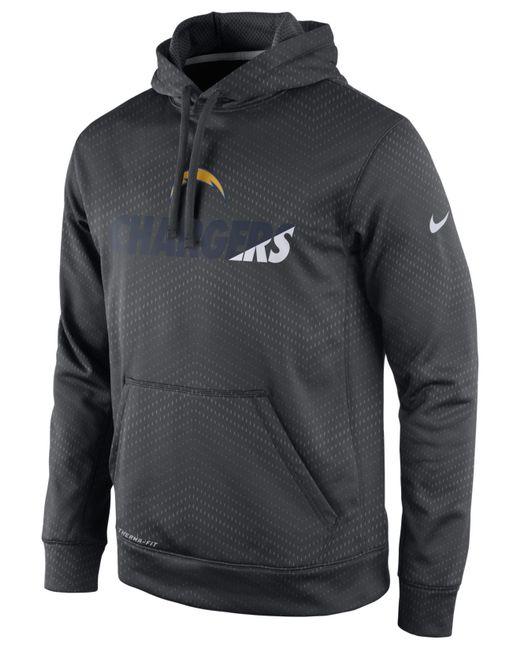 Nike Men S San Diego Chargers Sideline Ko Fleece Hoodie In