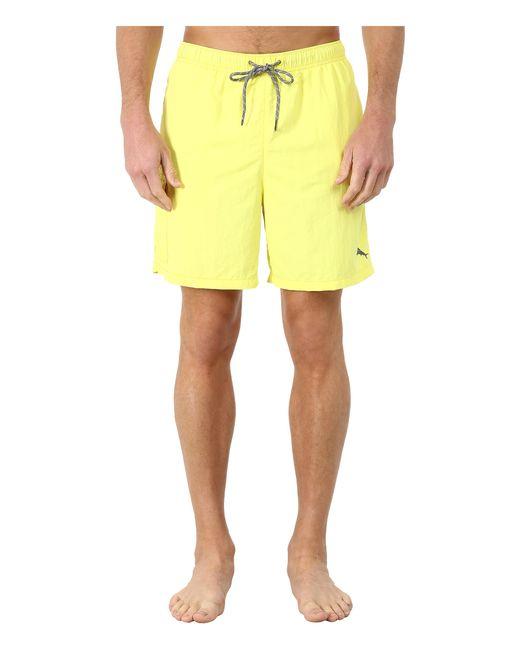 "Tommy Bahama | Yellow The Naples Happy Go Cargo 6"" Swim Trunks for Men | Lyst"