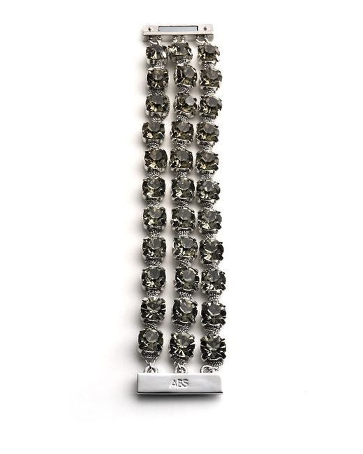 ABS By Allen Schwartz | Black Faceted Crystal Multi-chain Bracelet | Lyst