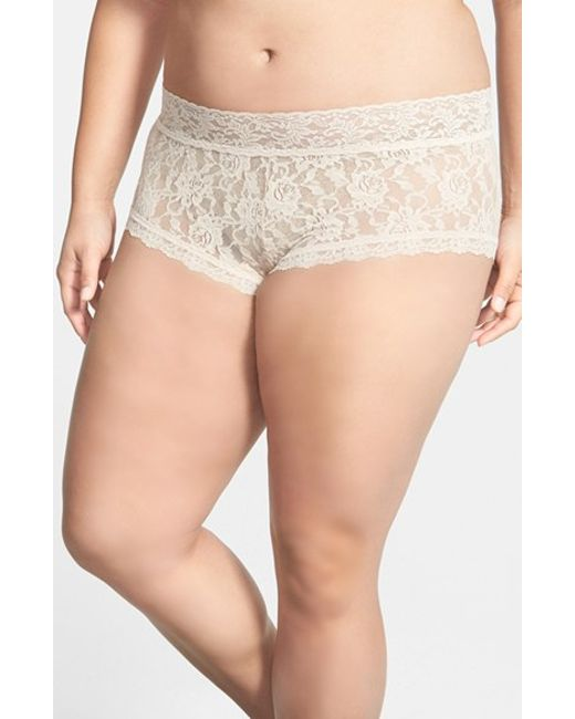 Hanky Panky | Natural Stretch Lace Boyshorts | Lyst