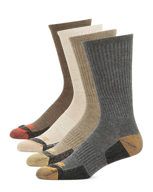 Timberland | Gray Four-pack Outdoor Leisure Crew Socks for Men | Lyst