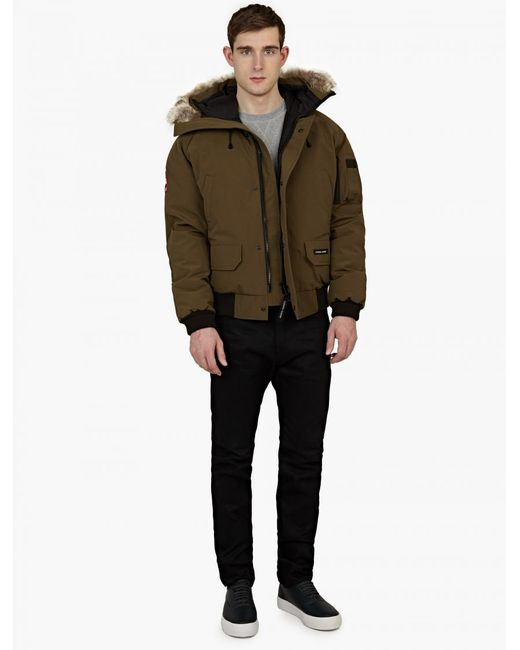 Canada Goose expedition parka online authentic - Canada goose Khaki Fur-trimmed 'chilliwack' Bomber Jacket in Brown ...