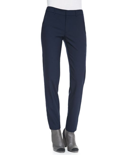 VINCE | Blue Side Strapping Pants | Lyst