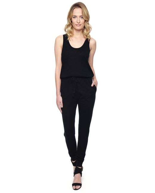 Splendid | Black Sweater Jumpsuit | Lyst