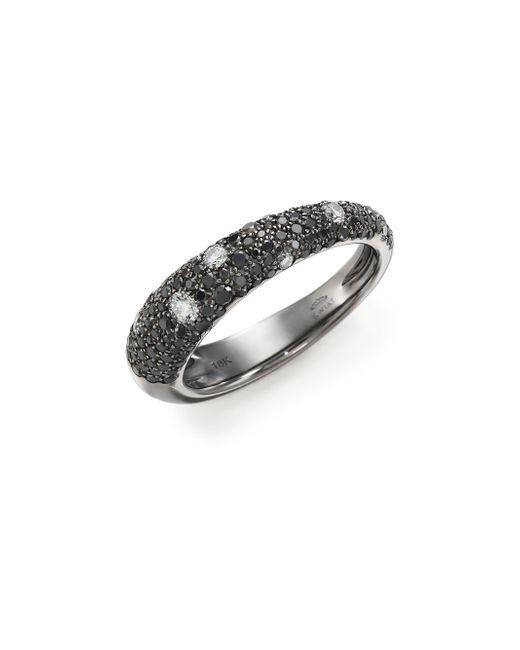 Kwiat | Metallic Cobblestone Black/white Diamond & 18k White Gold Band Ring | Lyst