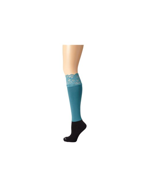 Bootights | Blue Lacie Lace Darby Knee High/ankle Sock | Lyst