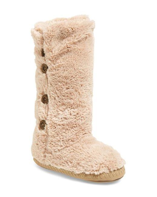 Bedroom Athletics | Natural Grace Faux-Fur Slipper Boots  | Lyst
