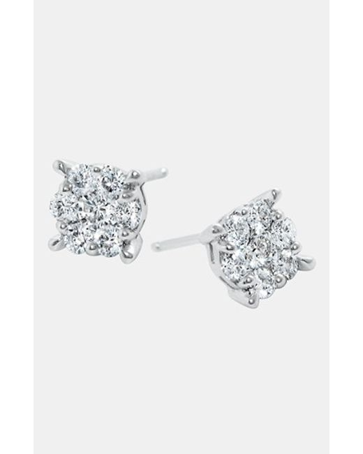Bony Levy | White 'lucky 7' Diamond Earrings (nordstrom Exclusive) | Lyst