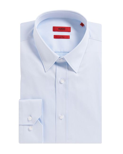 HUGO | Blue Slim-fit Shirt In Cotton: 'elisha' for Men | Lyst